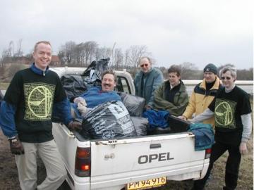 De frivillige lokale affaldsindsamlere i Vinderup, Foto: Arne Christensen