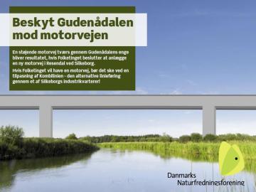 Illustration af, hvordan en motorvejsbro kunne have set ud ved Gudenåen