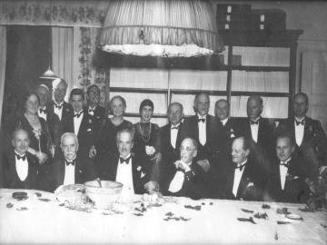 Foto fra sammenkomst i DN. Mange af de bærende kræfter i foreningen arbejdede ofte for DN i deres fritid uden at få løn for det.