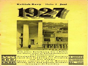 Forsiden fra Kritisk Revy 1927