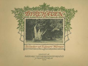 Forsiden fra Sigvart Werners billedbog fra Dyrehaven