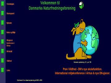 Forsiden på www.dn.dk anno 1998